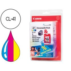 INK-JET CANON IP1200 1300 16002200 MP150 160 170 450 460 JX200 500 TRICOLOR CL-41