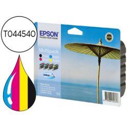 INK-JET EPSON STYLUS C64 C66 C84 C86 CX3600 3650 6400 660 MULTIPACK DURABRITE -T044140+T045240+340+4