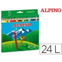 LAPICES DE COLORES ALPINO 658 C/ DE 24 COLORES LARGOS