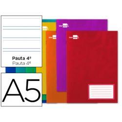 LIBRETA LIDERPAPEL WRITE A5 32 HOJAS 60G/M2CUADRO PAUTA 4? 3.5MM CON MARGEN