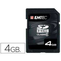 MEMORIA FLASH SD EMTEC 4GB 133X HC