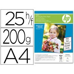 PAPEL HP FOTOGRAFICO SEMI- SATINADO -A4- -25 HOJAS- -200G/M2-