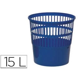 PAPELERA PLASTICO 119 AZUL MEDIDA 27.5X27.5 CM