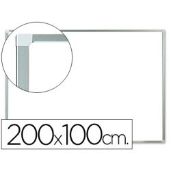 PIZARRA BLANCA Q-CONNECT LACADA MAGNETICA MARCO DE ALUMINIO 200X100 CM