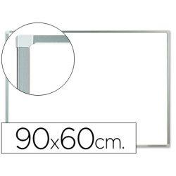 PIZARRA BLANCA Q-CONNECT LACADA MAGNETICA MARCO DE ALUMINIO 90X60 CM