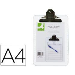 PORTANOTAS Q-CONNECT PLASTICO TRANSPARENTE DIN A4