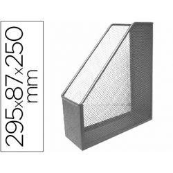 REVISTERO METALICO Q-CONNECT REJILLA GXA29 GRIS 87X295X250 MM