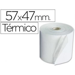 ROLLO SUMADORA TERMICO Q-CONNECT 57 MM ANCHO X 47MM DIAMETRO PARA MAQUINAS TARJETAS DE CREDITOS