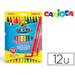 ROTULADOR CARIOCA BIRELO BIPUNTA CAJA DE 12 COLORES
