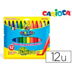 ROTULADOR CARIOCA JUMBO C/12 COLORES -PUNTA GRUESA