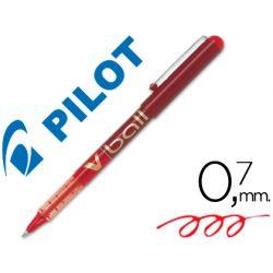 ROTULADOR PILOT ROLLER V-BALL ROJO 0.7 MM