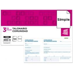 TALONARIO LIDERPAPEL COMUNIDADTRES DEL FOLIO 106 -CON IVA