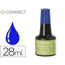 TINTA TAMPON Q-CONNECT AZUL -FRASCO DE 28 ML
