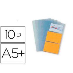 Pack de 10 fundas para tarjetas A4 Liderpapel RP02