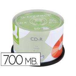 CD-R Q-CONNECT CAPACIDAD 700MBDURACION 80MIN VELOCIDAD 52X BOTE DE 50 UNIDADES