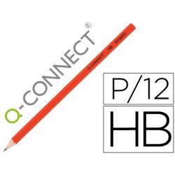 LAPIZ DE GRAFITO Q-CONNECT HEXAGONAL SIN GOMA N.2 HB