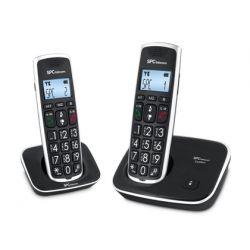 TELEFONO INALAMBRICO SPC TELECOM 7243N NEGRO IDENTIFICADOR DE LLAMADAS AGENDA PANTALLA