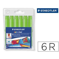 ROTULADOR STAEDTLER COLOR JUMBO TRAZO 3 MM -CAJAS UNICOLOR VERDE OLIVA