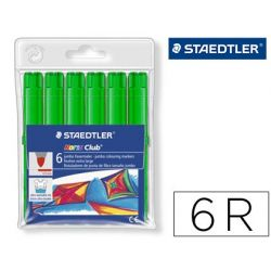 ROTULADOR STAEDTLER COLOR JUMBO TRAZO 3 MM -CAJAS UNICOLOR VERDE LIMA
