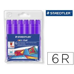 ROTULADOR STAEDTLER COLOR JUMBO TRAZO 3 MM -CAJAS UNICOLOR LILA