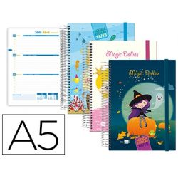 AGENDA ESCOLAR LIDERPAPEL 14-15 FANTASIA DIN-A5 70 HOJAS MAGIC DOLLIES TAPA FORRADA