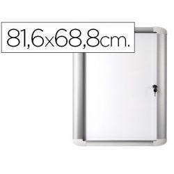VITRINA DE ANUNCIO BI-OFFICE MAGNETICA 816X688 MM PARA EXTERIOR CON MARCO DE ALUMINIO Y CERRADURA