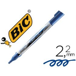 ROTULADOR BIC VELLEDA LIQUID POCKET PUNTA REDONDA 2,2 MM AZUL
