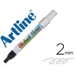 ROTULADOR ARTLINE GLASS MARKER ESPECIAL CRISTAL BORRABLE EN SECO O HUMEDO COLOR BLANCO