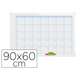 PLANNING MAGNETICO NOBO ANUAL ROTULABLE MARCO METALICO 90X60 CM