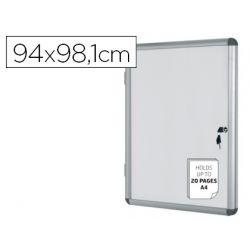 VITRINA DE ANUNCIOS BI-OFFICE FONDO MAGNETICO EXTRAPLANA DE INTERIOR 940X981 MM
