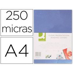 TAPA DE ENCUADERNACION Q-CONNECT PVC DIN A4 INCOLORA 250 MC