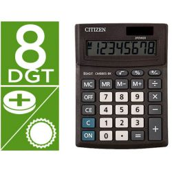 CALCULADORA CITIZEN SOBREMESA BUSINESS LINE ECO EFICIENTE SOLAR Y PILAS 8 DIGITOS 136X100X32 MM