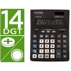 CALCULADORA CITIZEN SOBREMESA BUSINESS LINE ECO EFICIENTE SOLAR Y PILAS 14 DIGITOS 200X157X35 MM