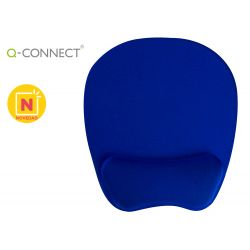 ALFOMBRILLA PARA RATON Q-CONNECT CON REPOSAMU?ECAS ERGONOMICA DE GEL COLOR AZUL