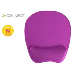 ALFOMBRILLA PARA RATON Q-CONNECT CON REPOSAMU?ECAS ERGONOMICA DE GEL COLOR VIOLETA