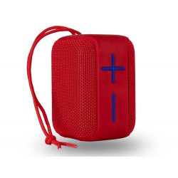 ALTAVOZ NGS BLUETOOTH ROLLER COASTER PORTATIL 10W RESISTENTE AL AGUA USB MICRO SD AUX IN COLOR ROJO
