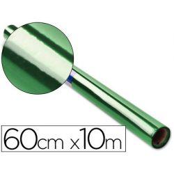 PAPEL CELOFAN ROLLO VERDE -0,60 X 10 MT