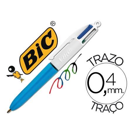 BOLIGRAFO BIC CUATRO COLORES MINI PUNTA MEDIA 1MM