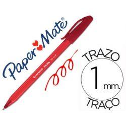 BOLIGRAFO PAPER MATE INKJOY 100 PUNTA MEDIA TRAZO 1MM ROJO