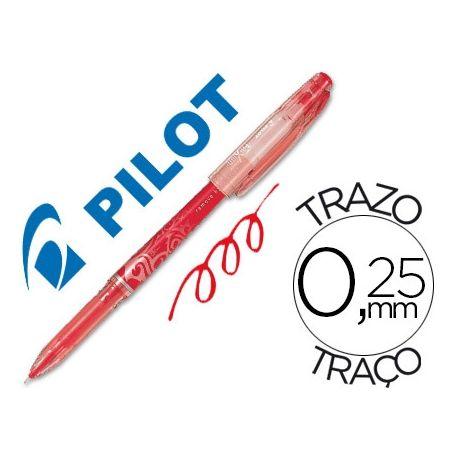 BOLIGRAFO PILOT FRIXION PUNTA DE AGUJA COLOR ROJO