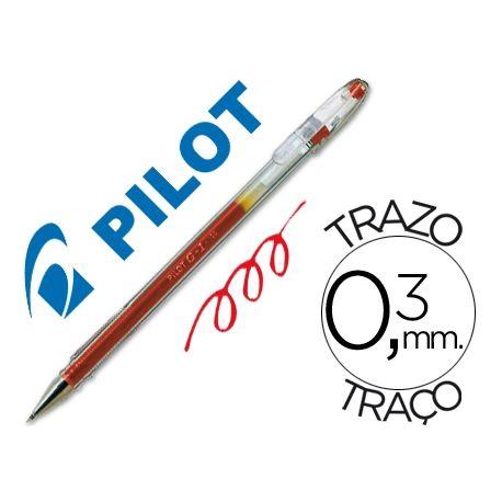 BOLIGRAFO PILOT G-1 ROJO TINTA GEL