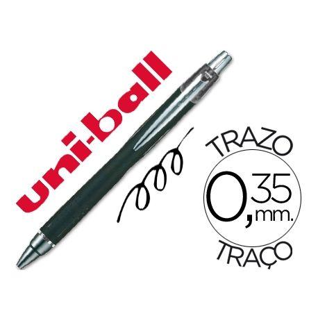 BOLIGRAFO UNI-BALL JETSTRAM SXN-210 RETRACTIL COLOR NEGRO