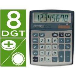 CALCULADORA CITIZEN SOBREMESA CDC-80 8 DIGITOS PLATA
