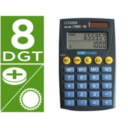 CALCULADORA CITIZEN DE-200 BOLSILLO -EURO -DOBLE PANTALLA-8 DIGITOS NEGRA -EN BLISTER