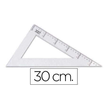 CARTABON LIDERPAPEL 30 CM PLASTICO CRISTAL