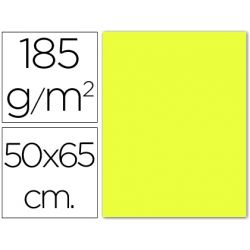CARTULINA GUARRO AMARILLO LIMON 50X65 CM 185 GR