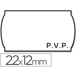 ETIQUETAS METO ONDULADAS 22 X 12 MM PVP BL. ADH 2 -ROLLO 1500 ETIQUETAS