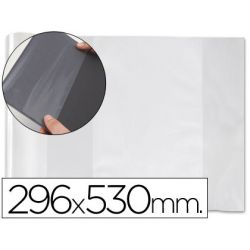 FORRALIBRO PVC CON SOLAPA AJUSTABLE ADHESIVO 296X530 MM