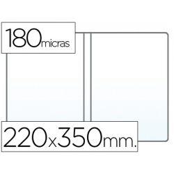 FUNDA PORTADOCUMENTO CUARTO DOBLE 180 MICRAS PVC TRANSPARENTE 220X350MM
