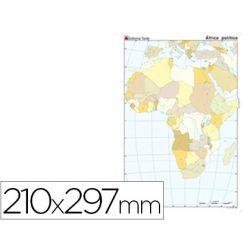 MAPA MUDO COLOR DIN A4 AFRICA -POLITICO